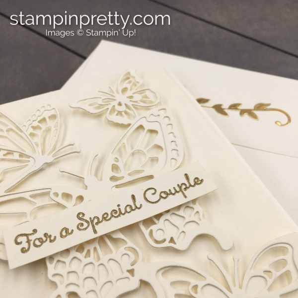 Create this Anniversary - Wedding Handmade Card using the Butterfly Abounds Bundle by Stampin' Up! Card created by Mary Fish, Stampin' Pretty (4)