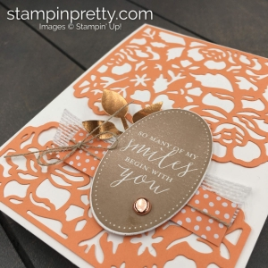 Create this Simple Saturday Card - Bye Bye Detailed Floral Dies by Stampin' Up! Stampin' Pretty, Mary Fish