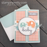 Create this Welcome Baby handmade card using the Little Elephant Stamp Set by Stampin