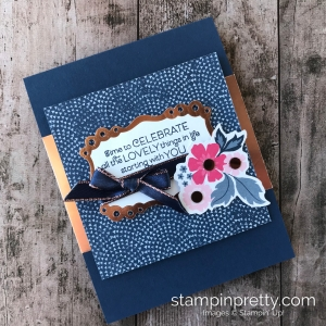 Create this celebrate card using the NEW Everything is Rosy Product Medley Limited Release by Stampin' Up! Mary Fish, Stampin' Pretty