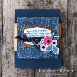 Create this celebrate card using the NEW Everything is Rosy Product Medley Limited Release by Stampin