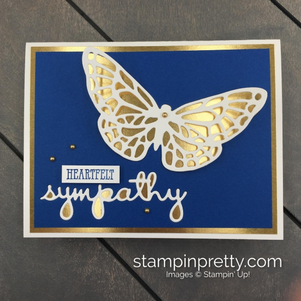 Create this sympathy card using the Springtime Impressions Dies and Well Said Bundle by Stampin' Up! Mary Fish, Stampin' Pretty