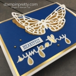 Create this sympathy card using the Springtime Impressions Dies and Well Said Bundle by Stampin