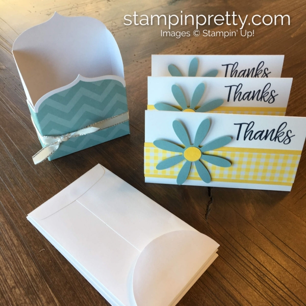 Daisy Delight Bundle by Stampin' Up! For Narrow Note Thank You Cards & Holder. Stampin' Pretty, Mary Fish