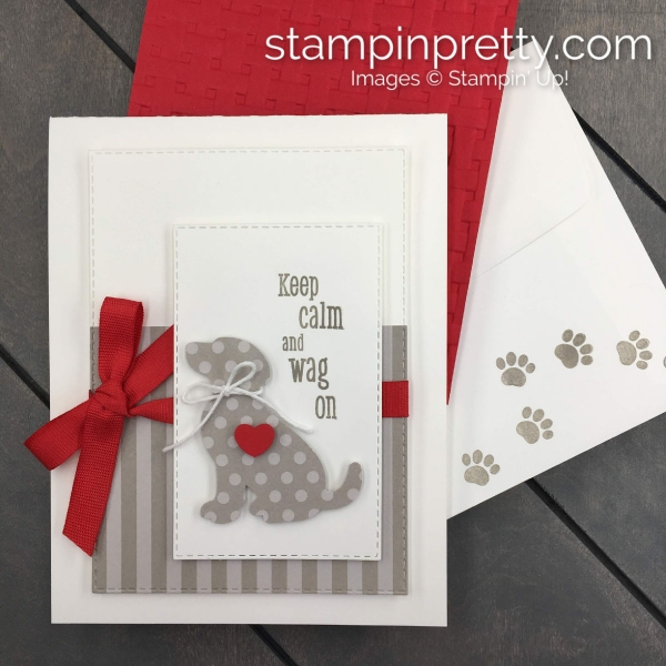 Happy Tails Bundle by Stampin' Up! Friend card created by Mary Fish, Stampin' Pretty