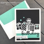 Create this Detailed Birthday Edgelits Dies Birthday Card using Stampin