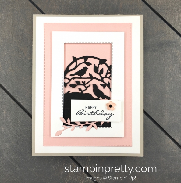 Create a simple card using Stampin Up Botanical Bliss and Botanical Tag Dies - Mary Fish Stampin Pretty