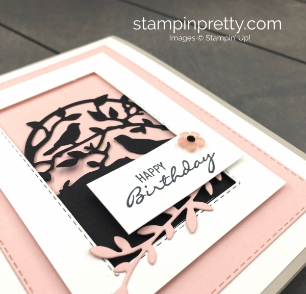 Create a simple card using Stampin Up Botanical Bliss and Botanical Tag Dies - Mary Fish Stampin Pretty Ideas