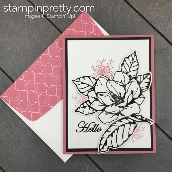 Create this Hello Friend Card using the Good Morning Magnolia Bundle by Stampin' Up! Card by Mary Fish, Stampin' Pretty
