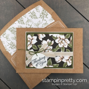 Create this Magnolia Lane Good Morning Magnolia Bundle by Stampin' UP! Card created by Mary Fish, Stampin' Pretty