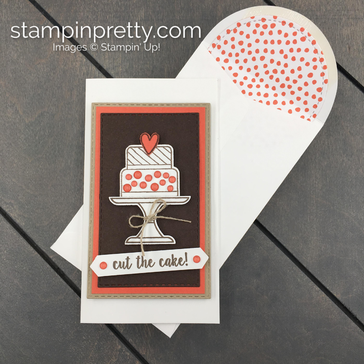 Simple Piece Of Cake Narrow Note Card Stampin Pretty