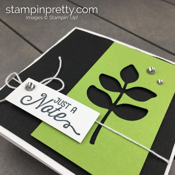 Create this handmade 4 1_2 Square Note Card with products by Stampin' Up! Mary Fish, Stampin' Pretty