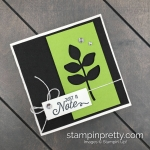 Create this handmade 4 1_2 Square Note Card with products by Stampin