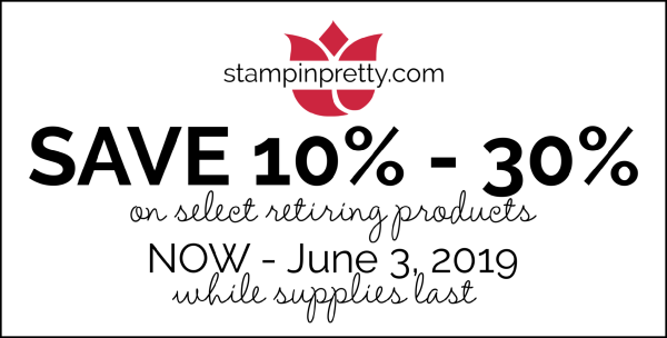 Stampin' Up! Discounts on Retiring Items! Save 10 - 30%