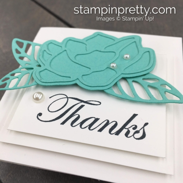 Good Morning Magnolia by Stampin' Up! 3x3 Thank You Card Created by Mary Fish, Stampin' Pretty