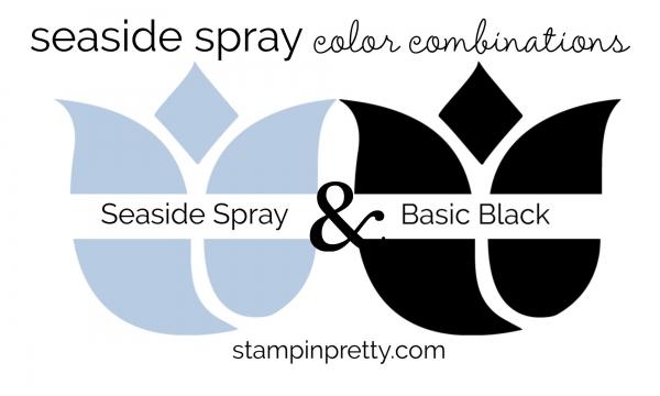 Seaside Spray & Basic Black Colored Tulips