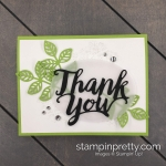 Create this handmade card duo using the Thank You Die by Stampin