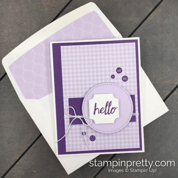 Stampin' Up! 2019-2021 Purple Posy In Color Combinations created by Mary Fish, Stampin' Pretty