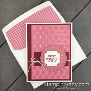 Stampin' Up! 2019-2021 Rococo Rose In Color Combinations created by Mary Fish, Stampin' Pretty