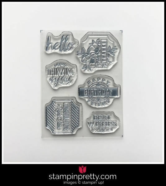 Stampin' Up! Darling Label 6-Piece Photopolymer Stamp Set by Stampin' Up! Available in the Darling Label Punch Box