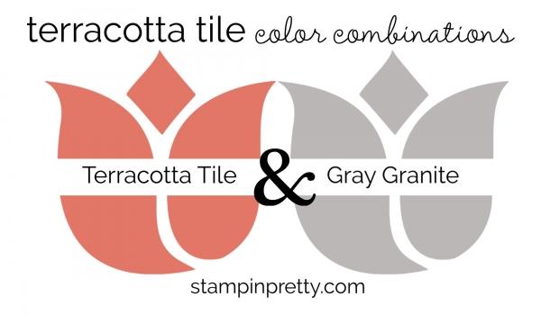 Terracotta Tile & Gray Granite Colored Tulips
