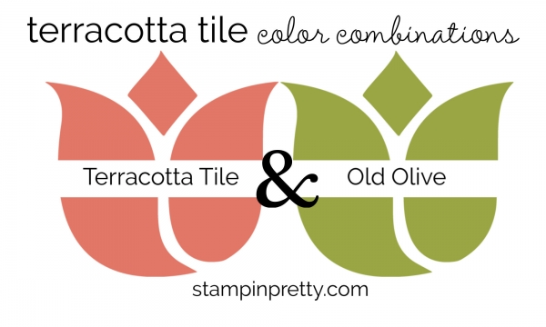 Terracotta Tile & Old Olive Colored Tulips