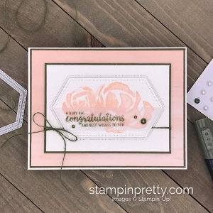 Beautiful Friendship Stamp Set by Stampin' Up! Wedding card by Mary Fish, Stampin' Pretty
