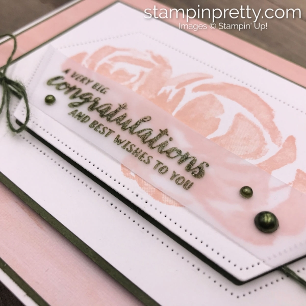Beautiful Friendship Stamp Set by Stampin' Up! Wedding card by Mary Fish, Stampin' Pretty_edit(1)