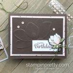 Create this Birthday Card using the Magnolia 3D Embossing Folder by Stampin
