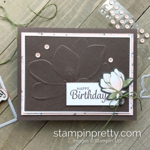 Create this Birthday Card using the Magnolia 3D Embossing Folder by Stampin' Up! Card by Mary Fish, Stampin' Pretty