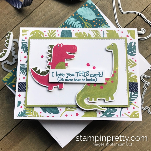 Dino Days Bundle by Stampin' Up! Love You Card by Mary Fish, Stampin' Pretty