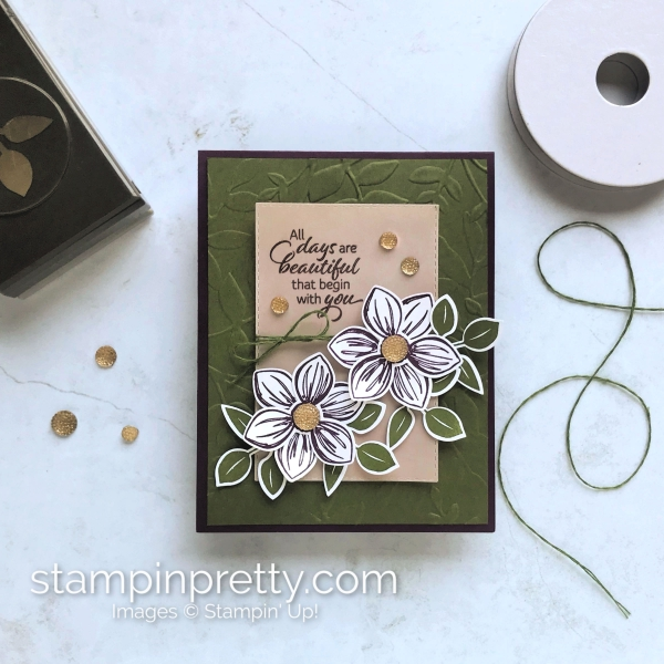 Floral Essence Bundle & Leaf Punch by Stampin' Up! Card created by Mary Fish, Stampin' Pretty
