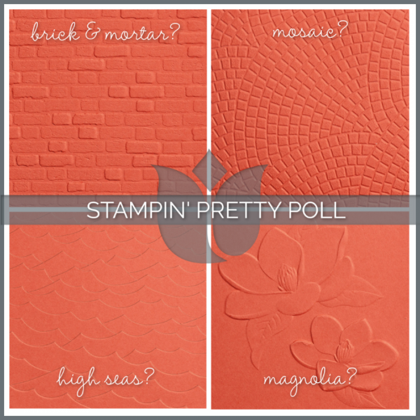 STAMPIN' PRETTY POLL 3D Embossing Folder