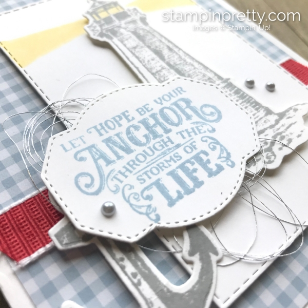 Sailing Home Bundle by Stampin' Up! Anchor card by Mary Fish, Stampin' Pretty