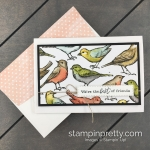 Simple Note Card using Bird Ballad Designer Series Paper by Stampin