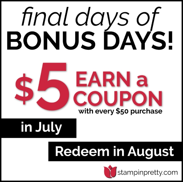 Bonus Days Coupon Simplified