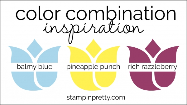 Color Combinations balmy blue, pineapple punch, rich razzleberry