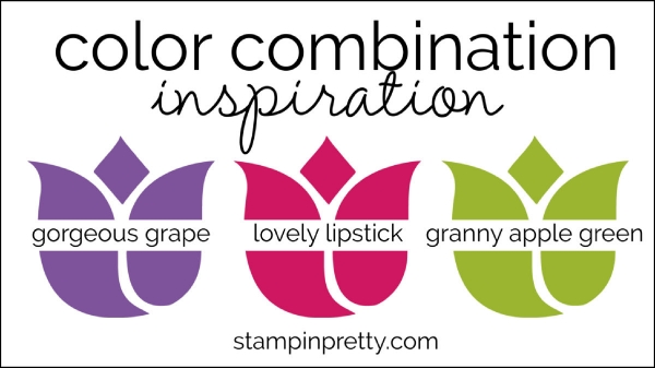 Color Combinations gorgeous grape, lovely lipstick, granny apple green