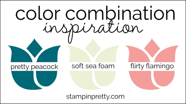 Color Combinations pretty peacock, soft sea foam, flirty flamingo