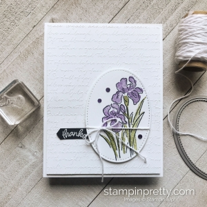 Create this Thanks Card using the Inspiring Iris Stamp Set from Stampin' Up! Card by Mary Fish, Stampin' Pretty #maryfish #stampinpretty #stampinup