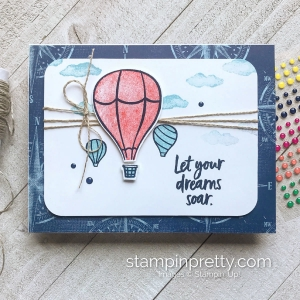 Create this card using the Above the Clouds Bundle from Stampin' Up! Card by Mary Fish, Stampin' Pretty
