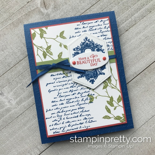 Create this card using the Very Versallies Stamp Set by Stampin' Up! Card by Mary Fish, Stampin' Pretty