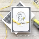 Create this friend card using Over the Moon Stamp Set by Stampin