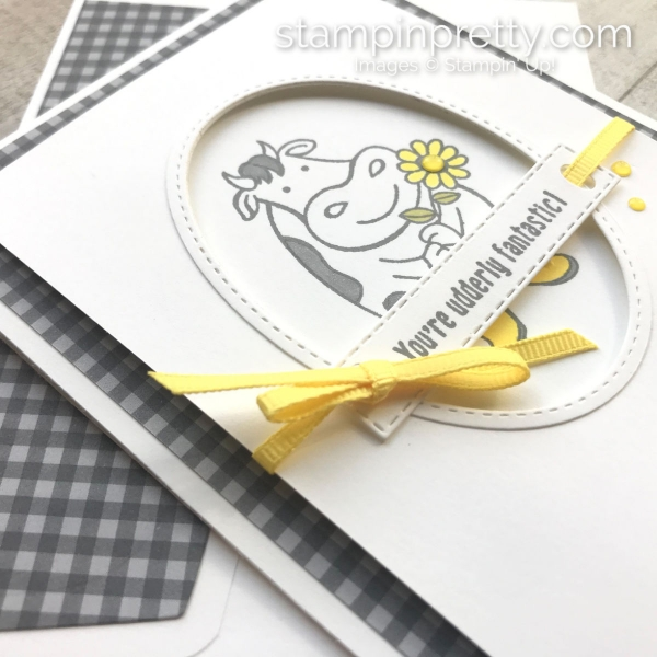 Create this friend card using Over the Moon Stamp Set by Stampin' Up! Mary Fish, Stampin' Pretty