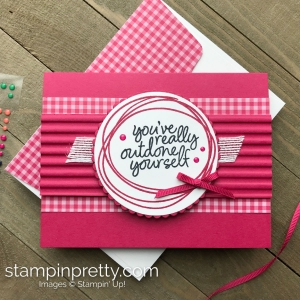 Create this handmade card using the Sweetly Swirled Stamp Set by Stampin' Up! Card created by Mary Fish, Stampin' Pretty