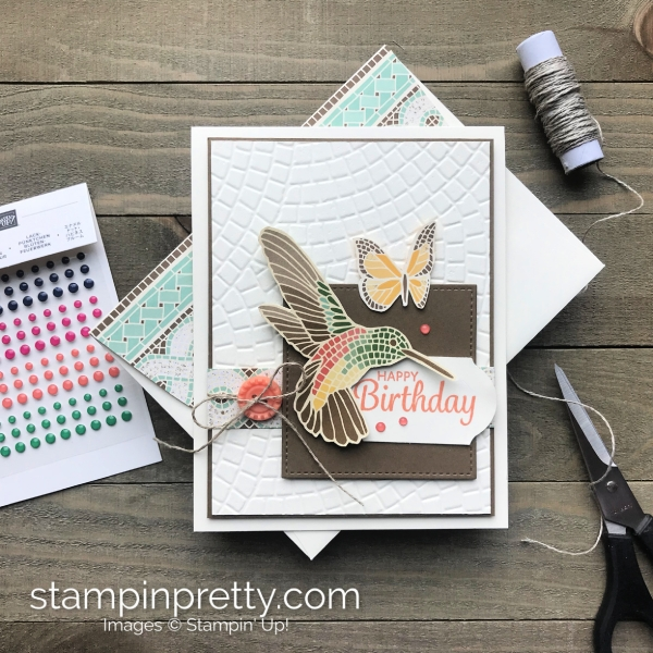 Mosaic Mood Suite by Stampin' Up! Create this handmade birthday by Mary Fish, Stampin' Pretty