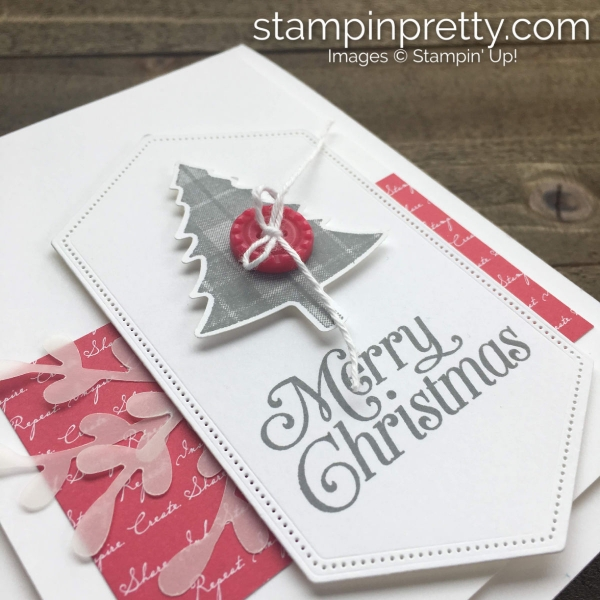 Perfectly Plaid Stamp Set & Pine Tree Punch from Stampin' Up! Card by Mary Fish, Stampin' Pretty