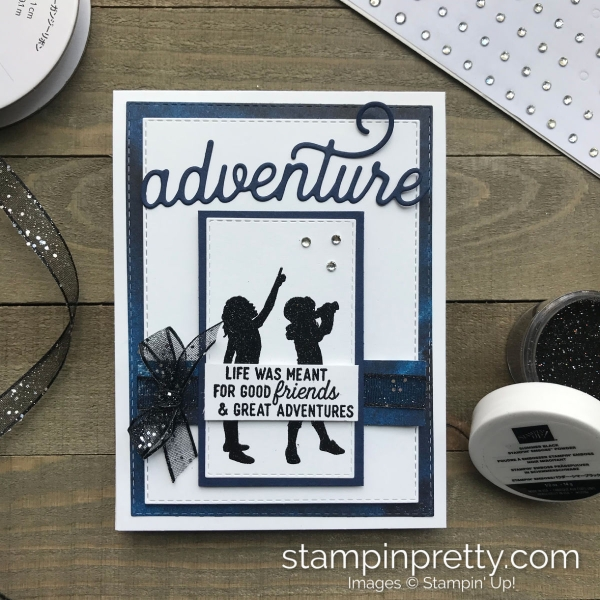 See a Silhouette Suite by Stampin' Up! Adventure card by Mary Fish, Stampin' Pretty