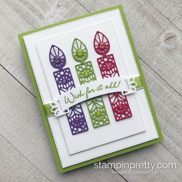 Wish for It All Bundle by Stampin' Up! Birthday Candle Card by Mary Fish, Stampin' Pretty
