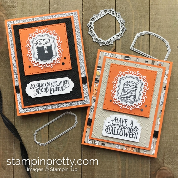 Create these Halloween cards using the Monster Bash Suite from Stampin' Up! Card by Mary Fish, Stampin' Pretty